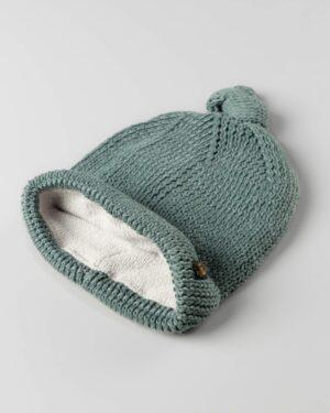 کلاه بافت بچگانه 84002- سبز دریایی (2)