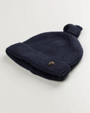 کلاه بافت بچگانه 84002- سرمه ای تیره (1)