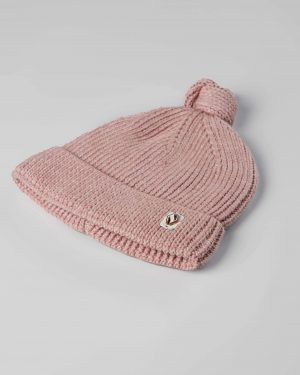 کلاه بافت بچگانه 84002- صورتی کثیف (1)