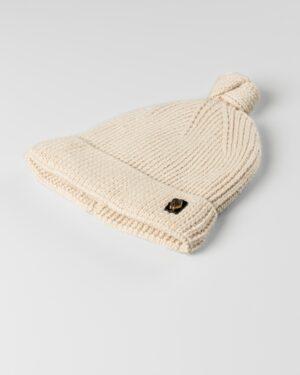 کلاه بافت بچگانه 84002- کرمی (1)