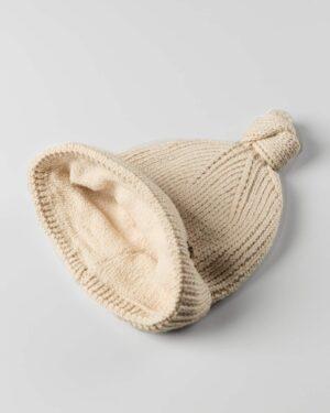 کلاه بافت بچگانه 84002- کرمی (2)