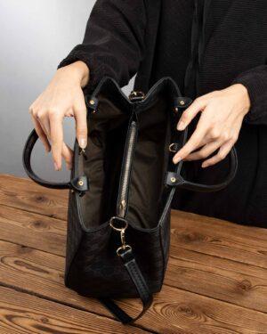 کیف دستی زنانه 110- مشکی (8)