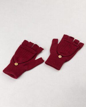 دستکش بافت 38006- عنابی (4)