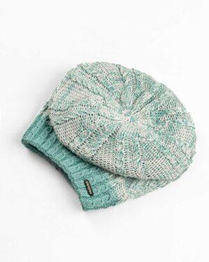 ست شال و کلاه و دستکش 15044-سبز آبی روشن (2)