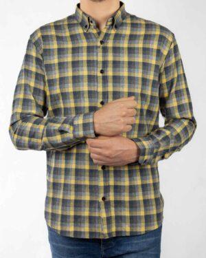 پیراهن مردانه پشمی VKSW99100-زرد (8)