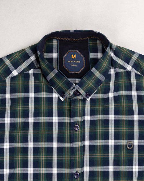 پیراهن مردانه 1080-سبز تیره (6)