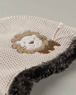 کلاه بافت بچگانه 84004- خاکستری (1)