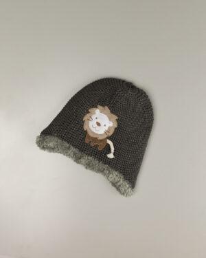کلاه بافت بچگانه 84004-دودی (1)