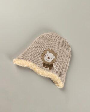 کلاه بافت بچگانه 84004- کرمی (4)