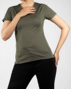 تیشرت زنانه 1123- زیتونی سیر (1)
