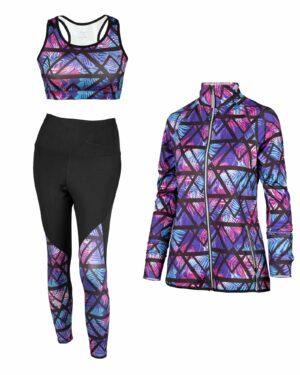 ست ورزشی زنانه 1159632- بنفش روشن (4)