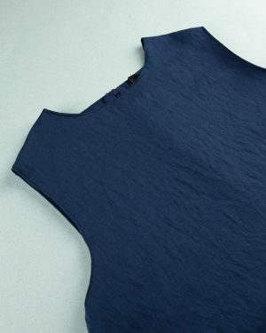 شومیز زنانه 010012- آبی تیره (5)