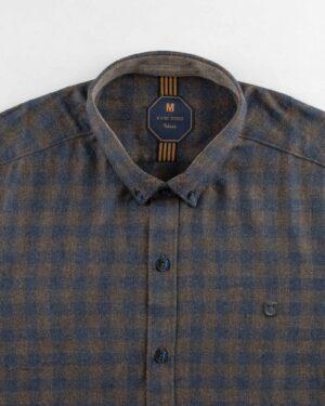 پیراهن مردانه پشمی 1333- آبی نفتی (6)
