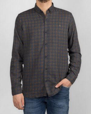 پیراهن مردانه پشمی 1333- آبی نفتی (7)