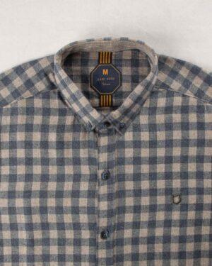پیراهن مردانه پشمی 1333- سرمه ای تیره (2)