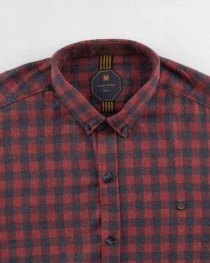 پیراهن مردانه پشمی 1333- شرابی (6)