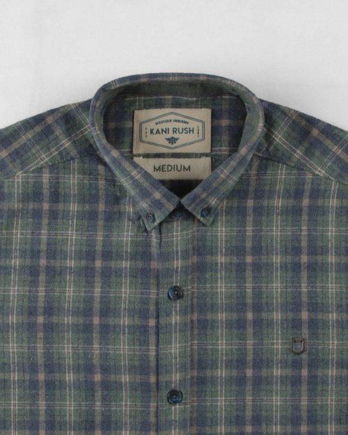 پیراهن مردانه پشمی 1348- سبز تیره (6)