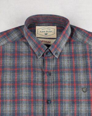 پیراهن مردانه پشمی 1348- سرمه ای تیره (2)