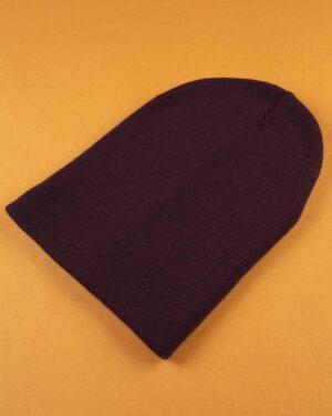 کلاه بافت zk55- بادمجانی (4)