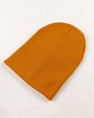 کلاه بافت zk55- خردلی (1)