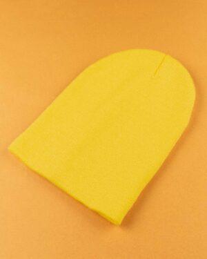 کلاه بافت zk55- زرد (1)