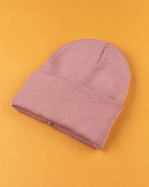 کلاه بافت zk55- صورتی کثیف (3)