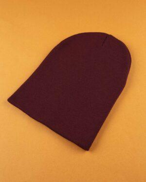 کلاه بافت zk55- عنابی (1)