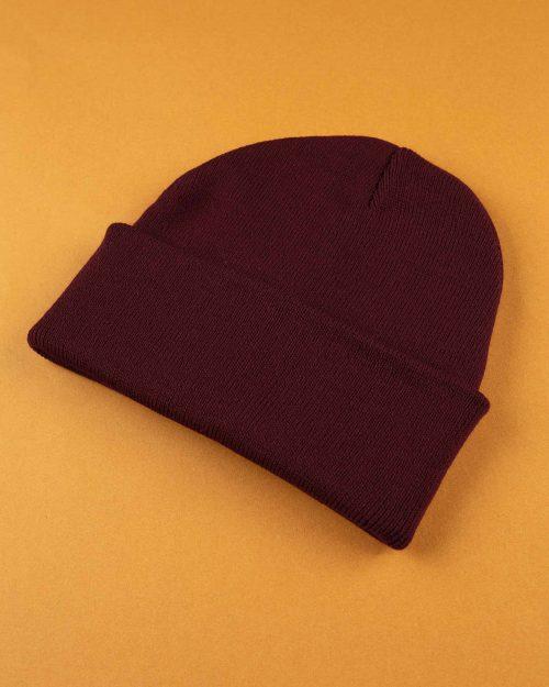 کلاه بافت zk55- عنابی (3)