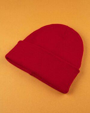 کلاه بافت zk55- قرمز (3)