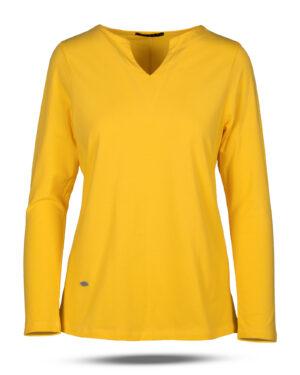 بلوز زنانه 1240 - زرد (2)