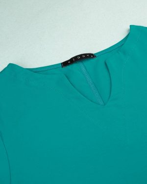 بلوز زنانه 1240 - سبز آبی (3)