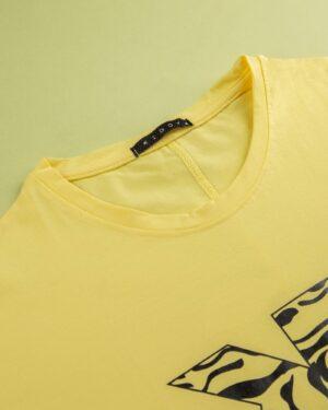 تیشرت زنانه 1187- زرد (4)