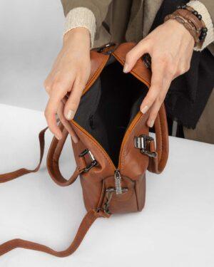 کیف دستی زنانه 0B0007- بادامی (11)