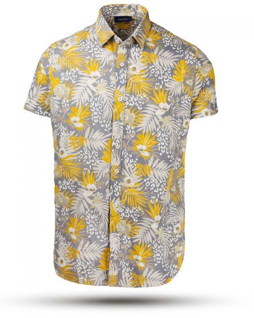 پیراهن مردانه 1435- زرد (2)