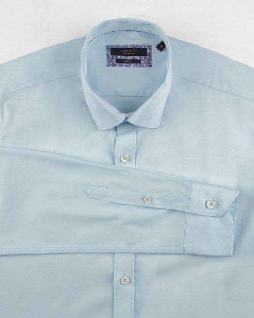 پیراهن کتان مردانه VK9915- آبی یخی (2)