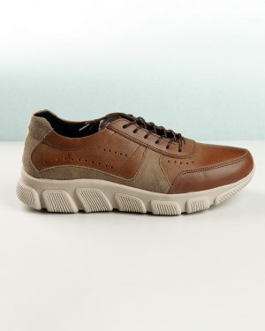 کفش مردانه چرم VK102- بادامی (4)