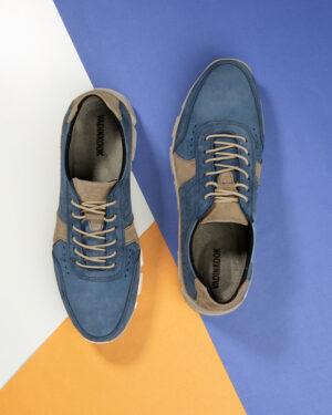 کفش مردانه چرم VK102- سرمه ای (1)