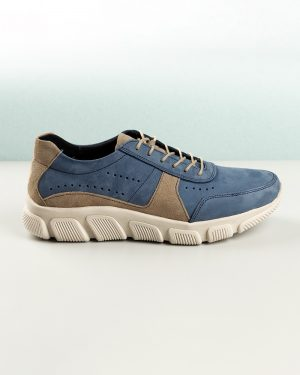 کفش مردانه چرم VK102- سرمه ای (4)