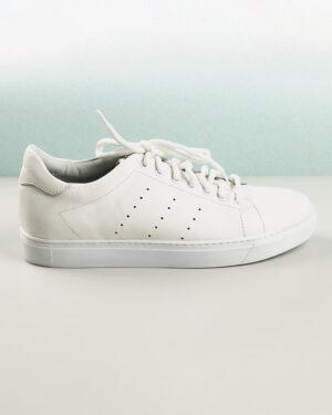 کفش چرم مردانه VK201- سفید (4)