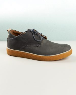 کفش چرم مردانه VK204-- خاکستری تیره (11)