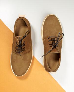 کفش چرم مردانه VK204-1 خاکی (7)