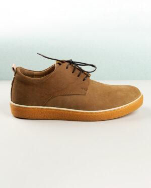کفش چرم مردانه VK204-1 خاکی (9)