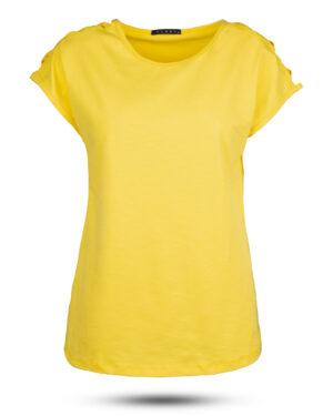 تیشرت دخترانه 0707- - زرد (1)