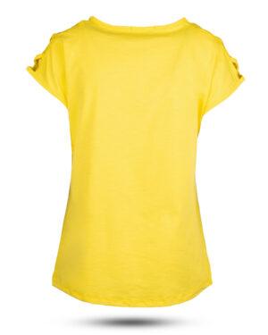 تیشرت دخترانه 0707- - زرد (2)