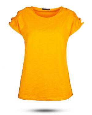 تیشرت دخترانه 0707- نارنجی (1)