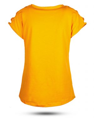 تیشرت دخترانه 0707- نارنجی (3)