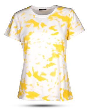 تیشرت زنانه 1292-زرد (2)