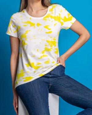 تیشرت زنانه 1292-زرد (3)