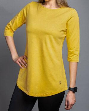 تیشرت زنانه 1306-زرد (3)