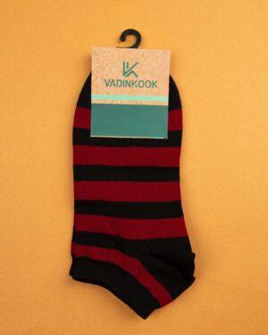 جوراب مردانه S25-T1- قرمز مشکی (1)